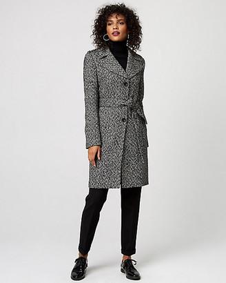Le Château Herringbone Wool Blend Notch Collar Coat