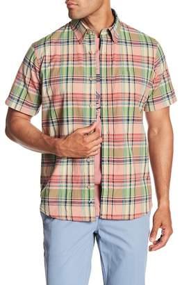 Tailor Vintage Madras Short Sleeve Plaid Shirt