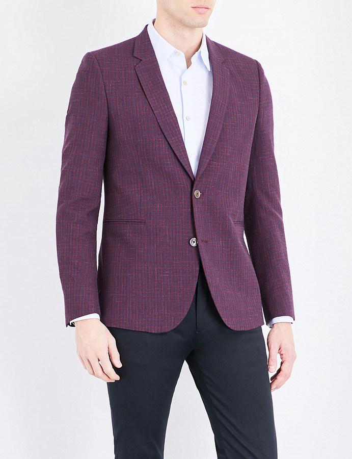 Paul SmithPaul Smith Checked wool-blend blazer