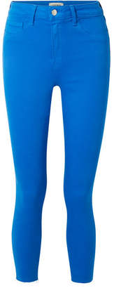 L'Agence The Margot Cropped High-rise Skinny Jeans - Bright blue