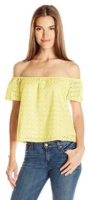 Everly Women's Off Shoulder Lace Top $15.29 thestylecure.com