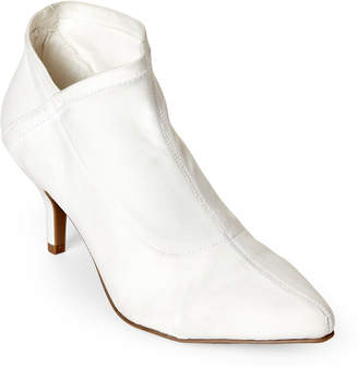 Mia White Charleese Pointed Toe Stretch Booties