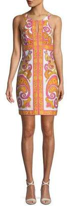 Trina Turk California Paisley Drive Keyhole Dress