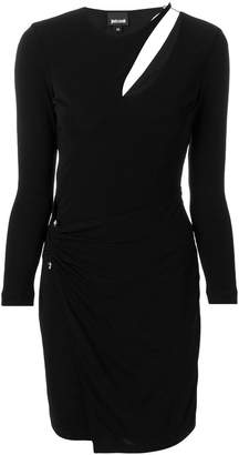 Just Cavalli ruched cut out dress