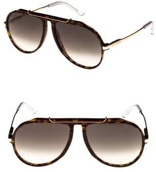 Celine 60mm Gradient Aviator Sunglasses