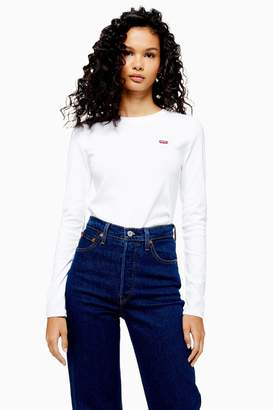 Levi's Womens Long Sleeve T-Shirt By White