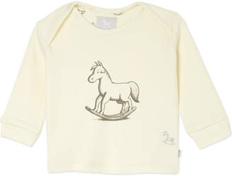 The Little Tailor Rocking horse print top 0-9 months