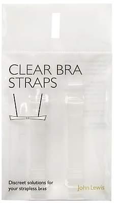 John Lewis & Partners Transparent Bra Straps, Clear