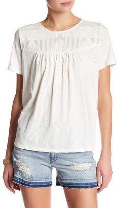 SUSINA Embroidered Yoke Tee $19.97 thestylecure.com