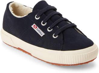 Superga Kids Girls) Navy 2750 Fleece-Lined Low-Top Sneakers