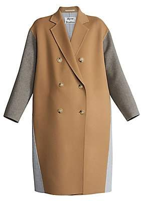 Acne Studios Women's Odethe Double-Breasted Wool & Cashmere Coat
