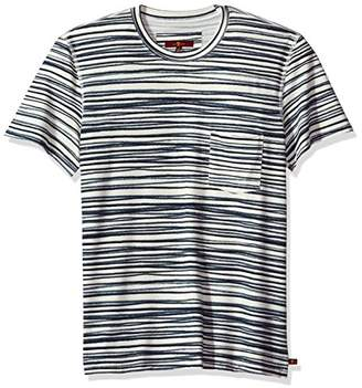 7 For All Mankind Men's Short Sleeve Abstract T-Shirt