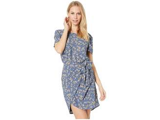 1 STATE 1.STATE Short Sleeve Heritage Bouquet Tie Front Dress