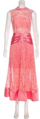 Self-Portrait Crochet Lace Maxi Dress