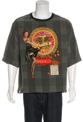 Dolce & Gabbana Silk Plaid Sanguinella T-Shirt w/ Tags