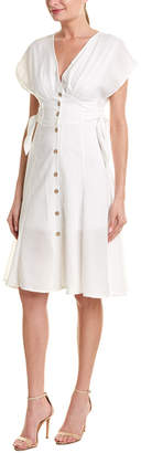Double Zero Tie-Side Midi Dress