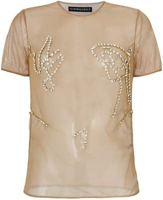 Y/Project Y / Project sheer embellished T-shirt
