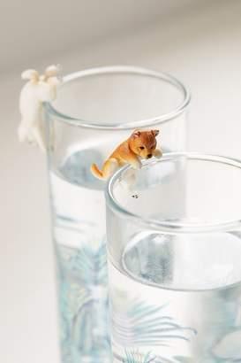 Putitto Shiba Inu Dog Figure Drink Label
