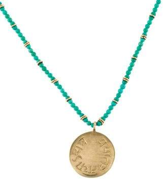 Me & Ro Me&Ro 10K Turquoise Beaded Pendant Necklace