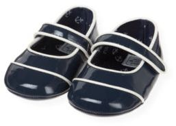 Janie and Jack Patent Leather Crib Shoe