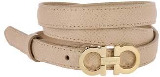 Salvatore Ferragamo Belt Belt Buckle Adjustable Mini Gancini In Genuine Leather
