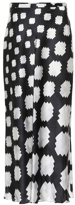 Marni Printed satin midi skirt
