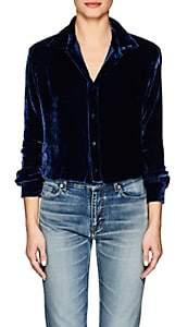 Juan Carlos Obando Women's Velvet Shirt-Blue