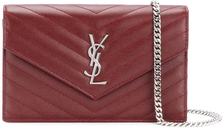 Saint Laurent classic envelope chain wallet