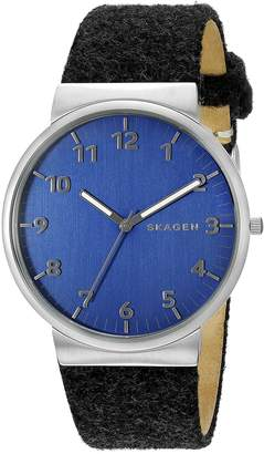 Skagen Men's SKW6232 Ancher Grey Leather Watch