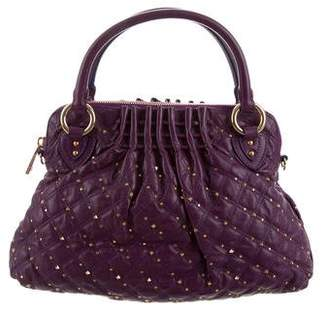 Marc Jacobs Embellished Quilted Leather Satchel