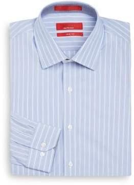 Saks Fifth Avenue RED Trim-Fit Alternating Striped Cotton Dress Shirt
