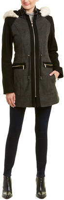 Laundry by Shelli Segal Contrast Coat