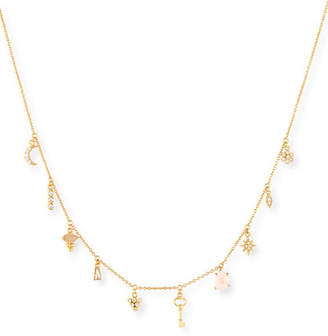 Tai Moon & Star Crystal Charm Necklace