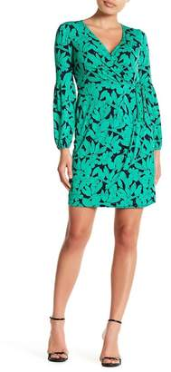 London Times Floral Printed Wrap Style Dress (Petite)