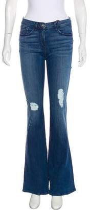 3x1 NYC Bell Bottom Rippe Mid-Rise Jeans w/ Tags