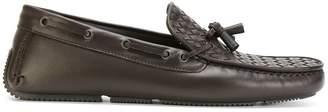 Bottega Veneta woven boat shoes
