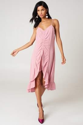 Na Kd Trend Front Gathering Midi Dress