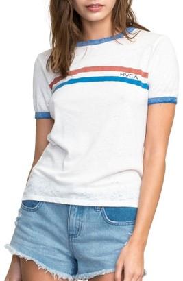Women's Rvca Stripe Ringer Tee $29 thestylecure.com