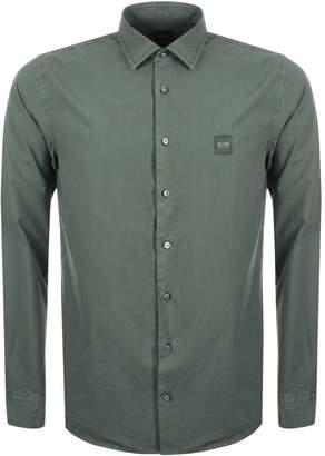 BOSS ORANGE My Pop Slim Fit Shirt Khaki