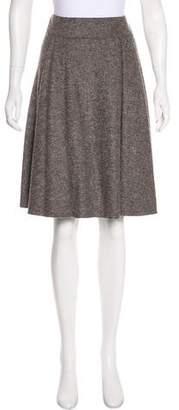 Armani Collezioni Flounce Wool Skirt