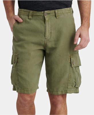 Lucky Brand Men Linen Cargo Shorts