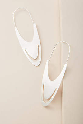 Anthropologie Anastasia Oval Hoop Earrings