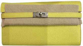 Hermes Kelly Yellow Leather Wallets