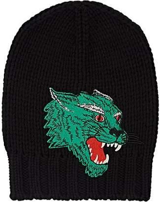 c1357290d41 Gucci Men s Panther-Appliquéd Wool Beanie - Black