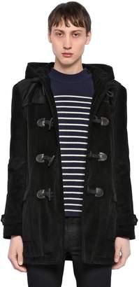 Saint Laurent Corduroy & Shearling Duffle Coat