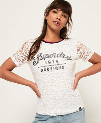 Superdry Elsworth Lace Graphic T-Shirt