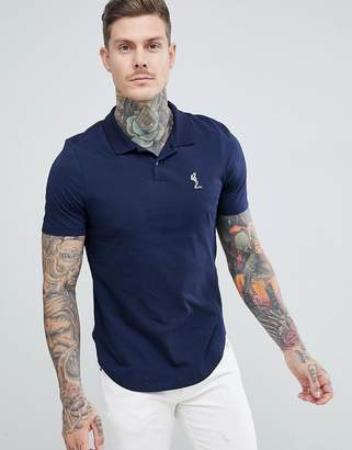 Religion polo shirt in navy
