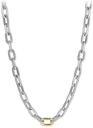 "David Yurman Madison Chain 11mm Medium Link Necklace w/ 18k Link, 20"""