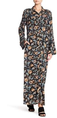 Spirit of Grace Long Sleeve Print Maxi Dress