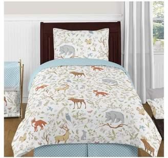 JoJo Designs Sweet Gray & Blue Woodland Toile Comforter Set (Twin) - Sweet